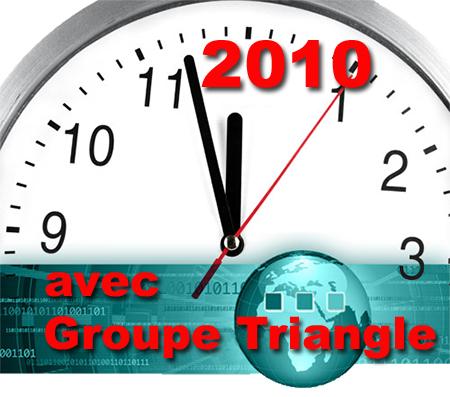Bonne Année 2010 avec Groupe Triangle Nimes