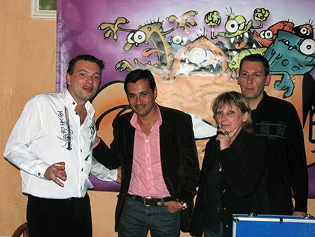 Salon Européen de la BD - Olivier GALZI, DJ Triangle, Monique (NICKY production)Hotel Imperator