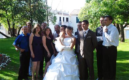 mariage de notre chanteuse Emma