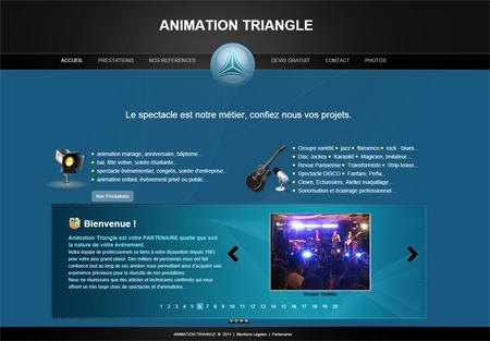 Lancement nouveau site Animation Triangle