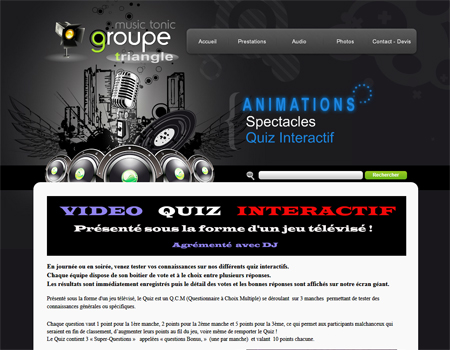 Animation Quiz video interactif - Groupe Triangle Nîmes