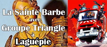 « La Sainte Barbe » à Laguépie avec Groupe Triangle