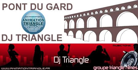 Animation mariage DJ Triangle à Pont du Gard