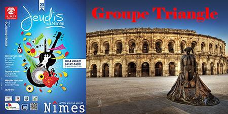 Groupe Triangle en Trio à Jeudis de Nîmes