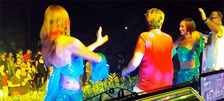 Fête votive Roullens avec DJ Triangle, DJ Gregory et danseuses