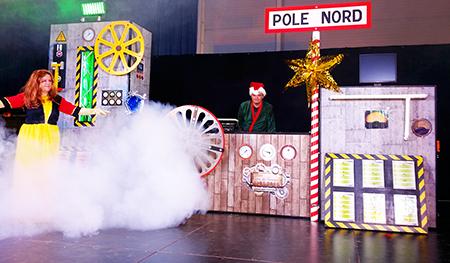Spectacle enfant La fabrique à jouets du Père Noël Animation Triangle