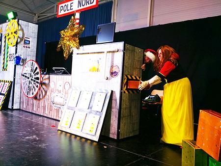 Spectacle enfants La fabrique à jouets du Père Noël