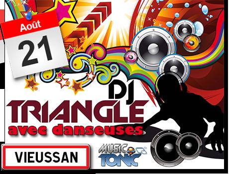 Fête votive de Vieussan DJ Triangle avec danseuses