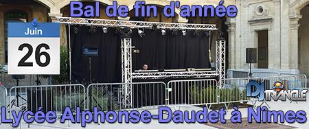 Bal de fin d'année au Lycée Alphonse-Daudet à Nîmes avec DJ Triangle