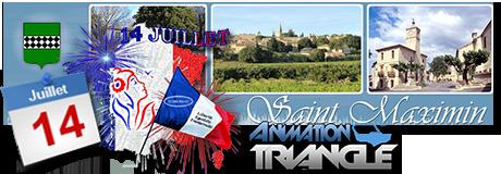 Soirée Bleu blanc rouge, fête nationale à Saint Maximin avec Groupe Triangle