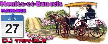 Mariage à Moules et Baucels - animation DJ Triangle Gard Nîmes