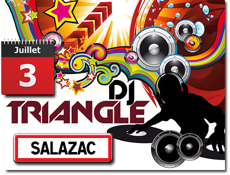 Fête votive à Salazac - animation avec Groupe Triangle et DJ Triangle