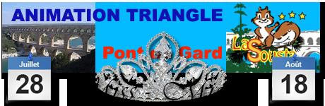 Soirée des Miss / Mister camping à la Remoulins Animation Triangle