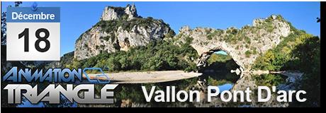 Groupe Triangle à Vallon Pont D'arc pour l'animation du gouter de fin d'année de nos ainés