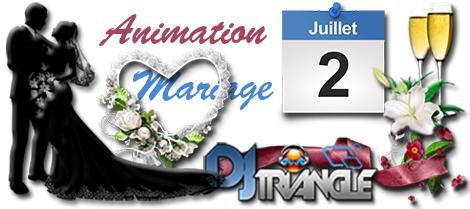 Dj Triangle pour  animation un super mariage de prestige à Verfeuil
