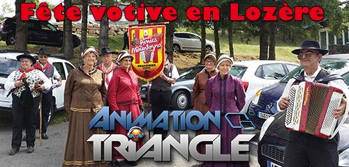 Animation fête du village en Lozère avec DJ et magicien Triangle