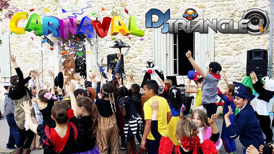 Animation carnaval de l'école DJ et Animation enfants Groupe Triangle Nîmes Gard