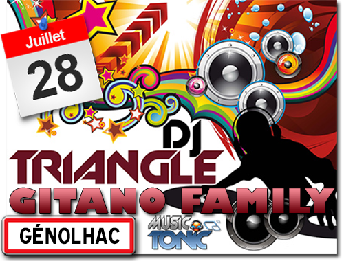 Fête votive à Génolhac  animations avec Gitano Family et DJ Triangle