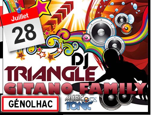Fête votive à Génolhac  animations avec Gitano Family et DJ Triangle