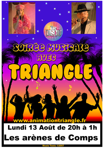 Groupe Triangle - spectacle à Comps - Gard