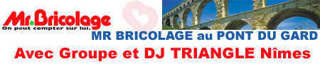 DJ Triangle et Marti Pascal - Groupe Triangle animation a Pont du Gard